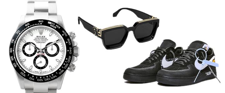 時計・眼鏡・サングラス・スニーカー等にも